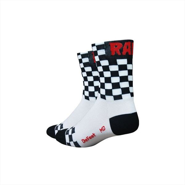 Calcetines DEFEET AIREATOR Checkmate White/Black