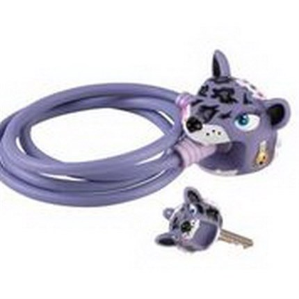 CANDADO CRAZY SAFETY LEOPARDO MORADO