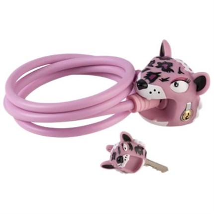 candado crazy safety leopardo rosa