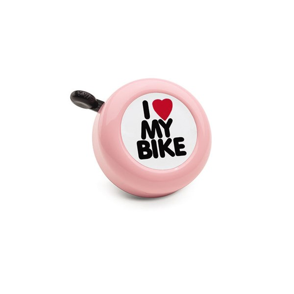 TIMBRE ELECTRA I LOVE MY BIKE ROSA