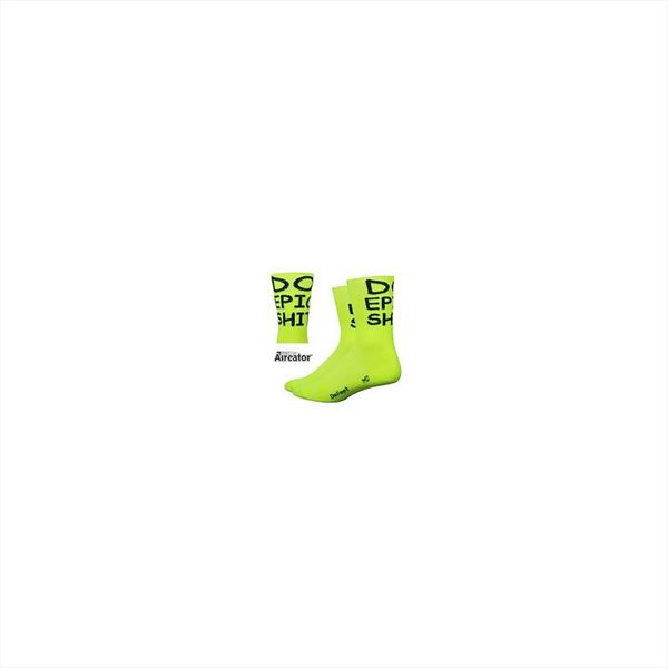Calcetines DEFEET AIREATOR 5″ Do Epic Shit Yellow